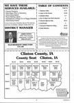 Table of Contents, Clinton County 2001
